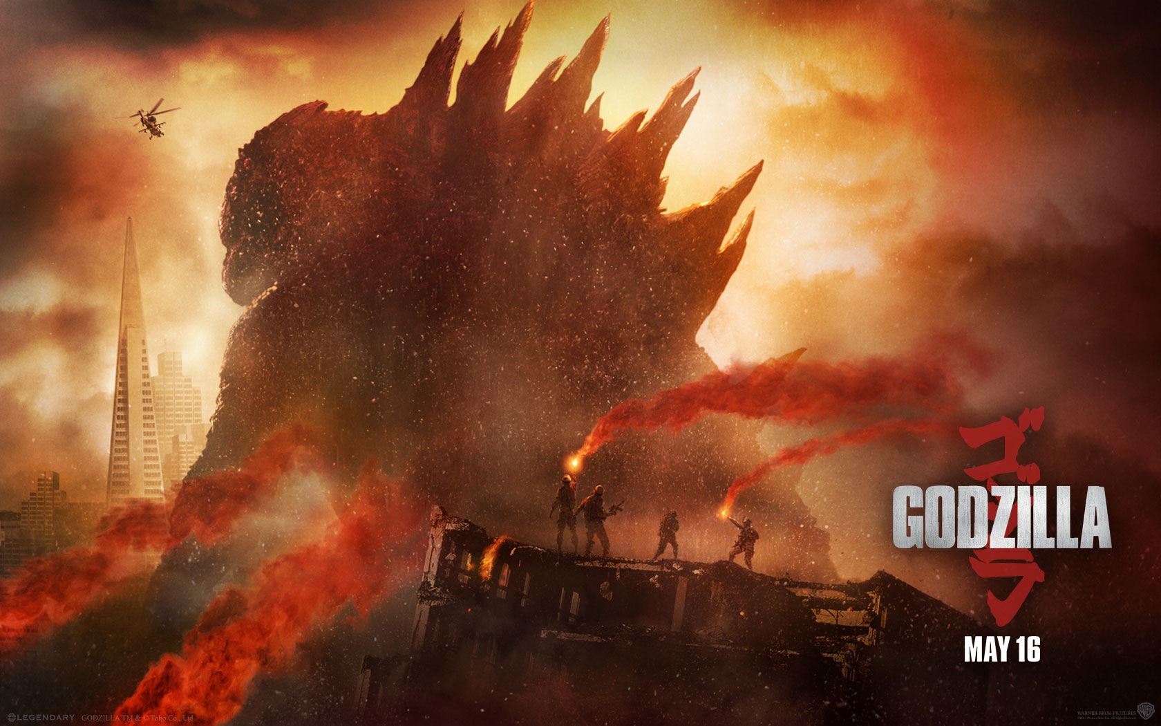 Wallpaper Godzilla 2014 Pictures to pin 1680x1050