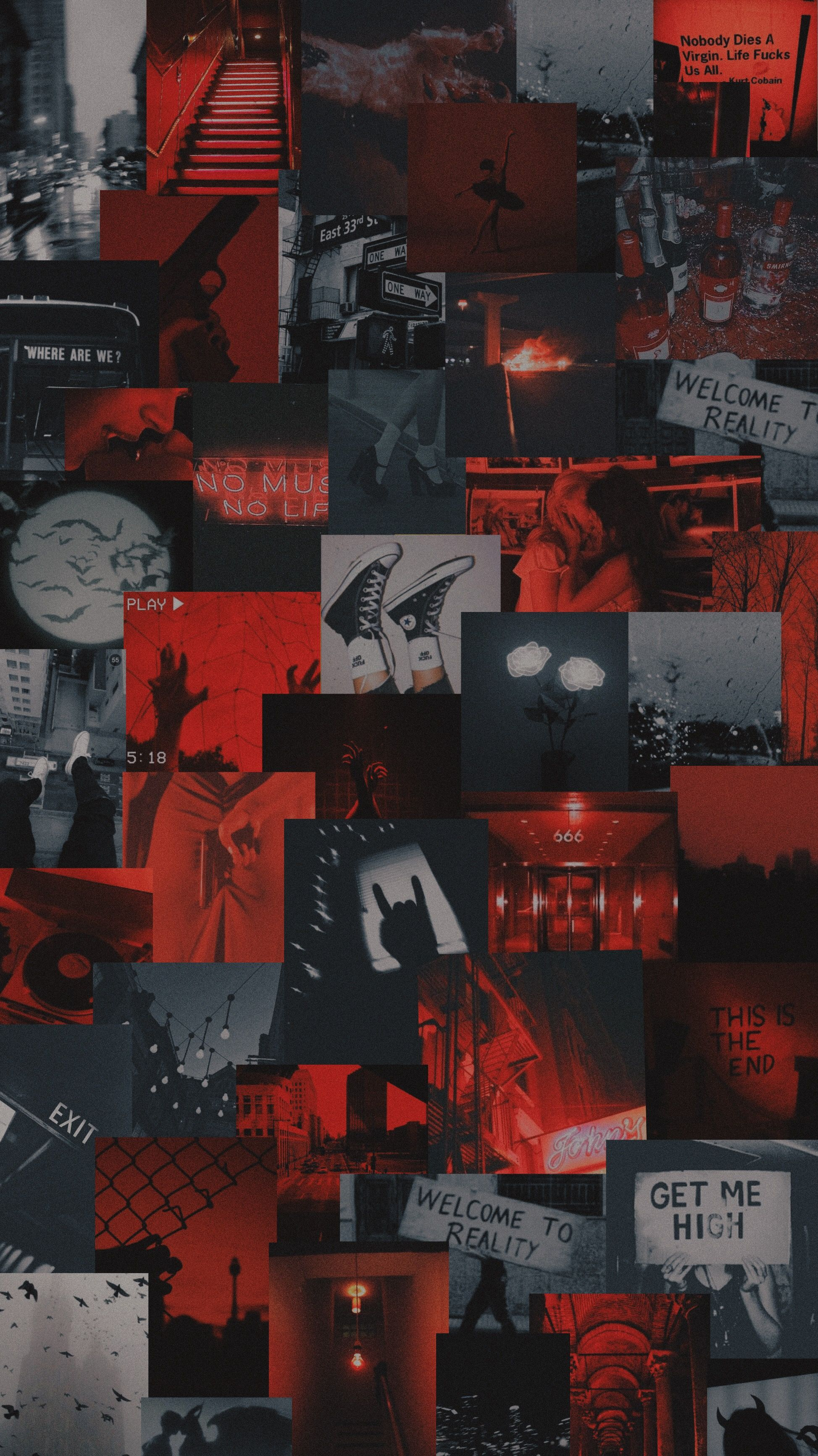 stream sadderdaze by the neighborhood Red and black wallpaper 1947x3464