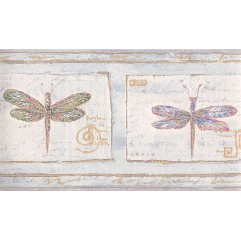 Wallpaper Border Animals Nature Dragonfly Textured Border 800x800