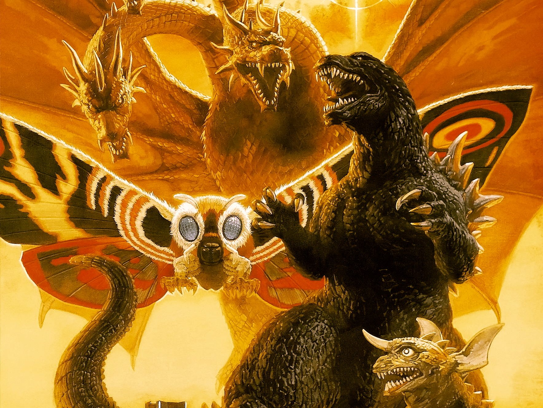 Godzilla vs King Ghidorah Wallpaper and Background Image 1768x1328