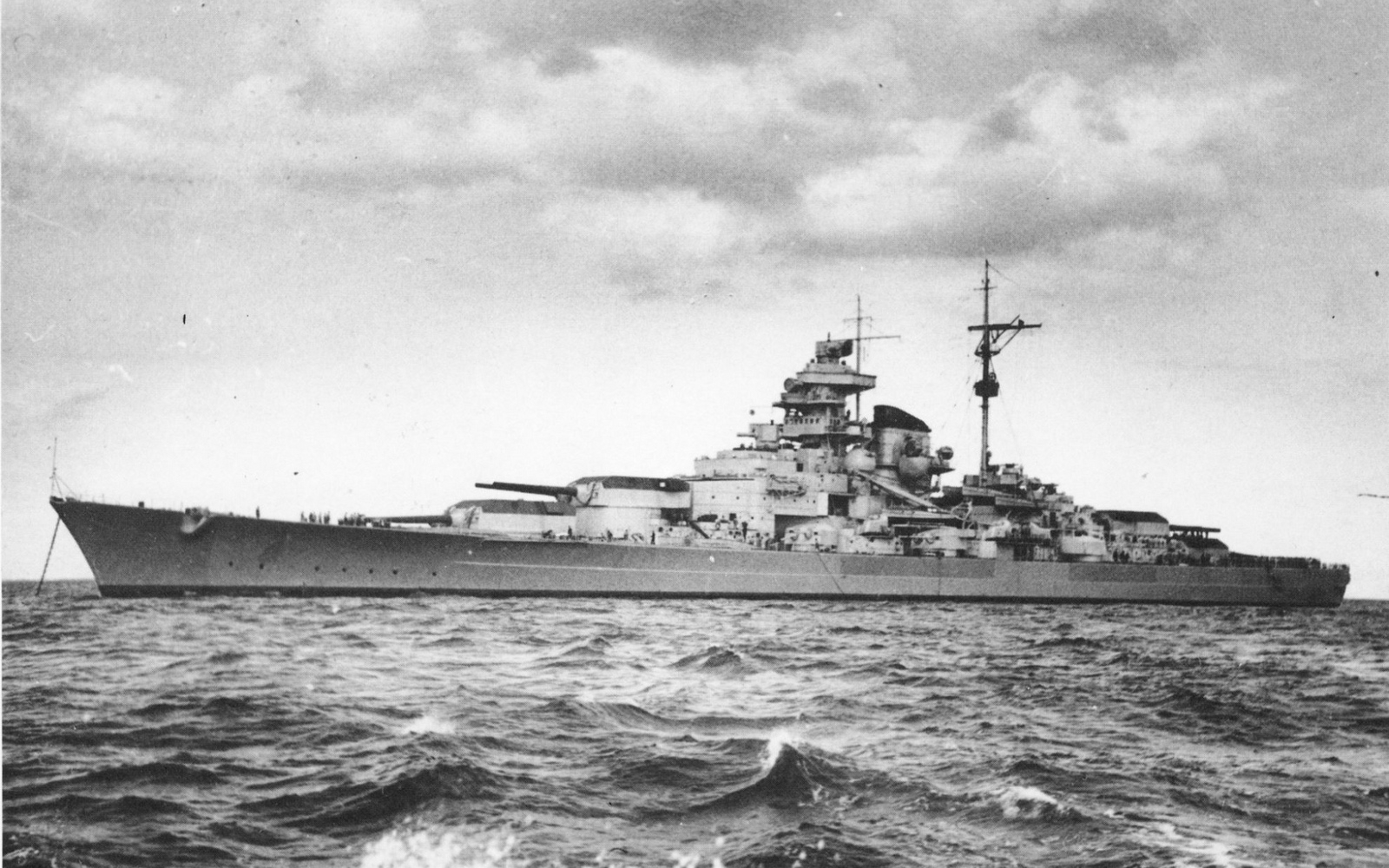 German Battleship Tirpitz Computer Wallpapers Desktop Backgrounds 1600x1000