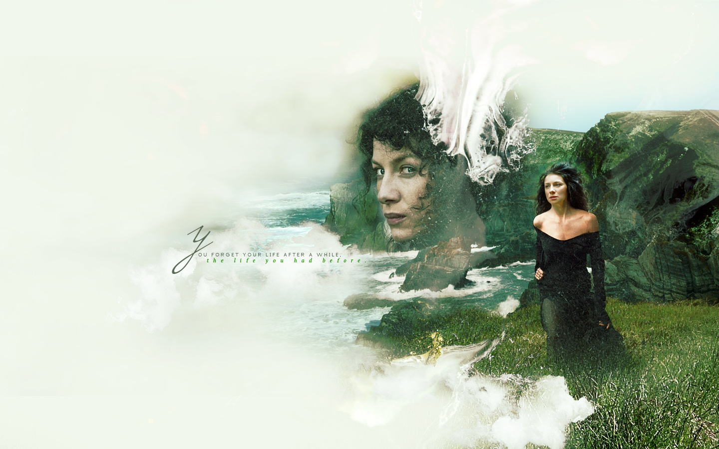With A Hot Tub Titled Claire Randall   Outlander 1440x900