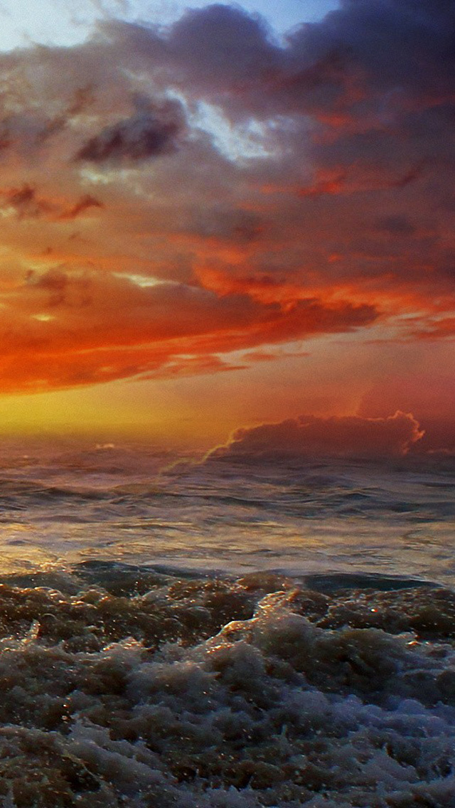 ocean beach sunset wallpaper   Quotekocom 640x1136