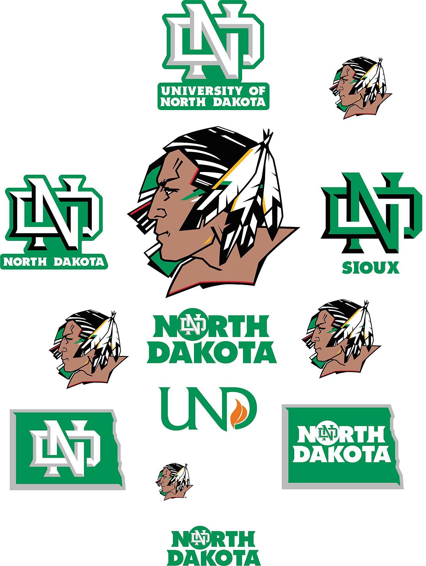 Brewster Wallcovering North Dakota Fighting Sioux Logo Fathead Jr 1355x1800