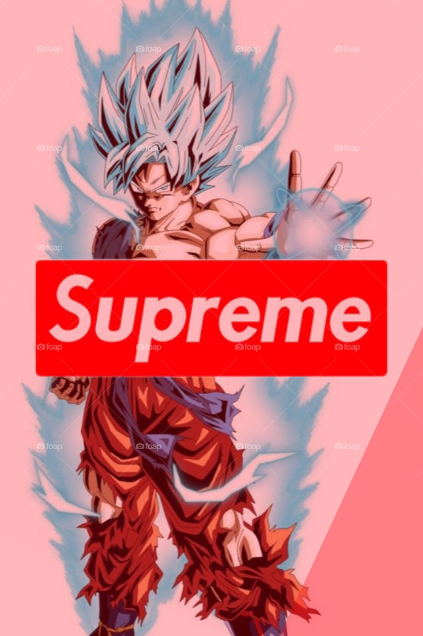 Foapcom Supreme Goku stock photo by thebosskade 852x1280