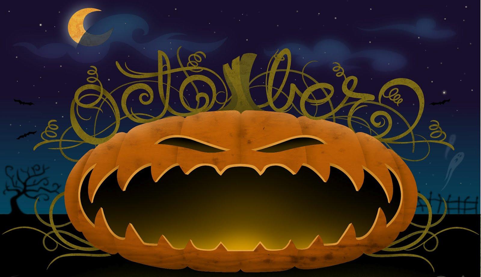Large Halloween Desktop Wallpaper HD wallpaper background 1600x922