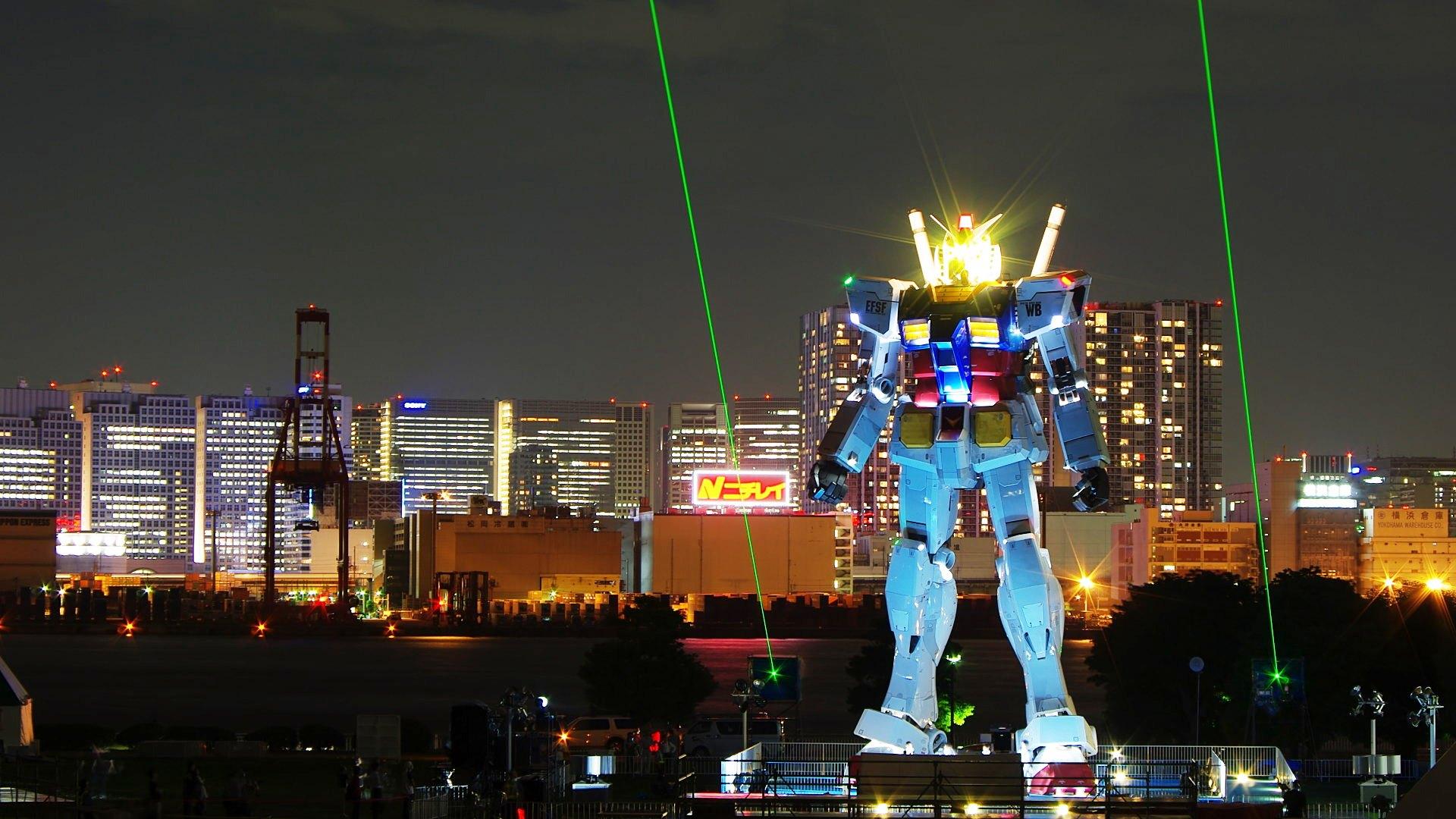 Tokyo Gundam Wallpaper 1920x1080 Tokyo Gundam Night 1920x1080