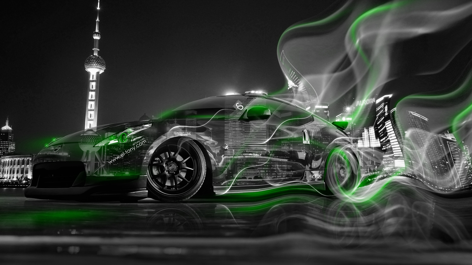 Nissan 370Z JDM Crystal City Smoke Drift Car 2014 El Tony 1920x1080