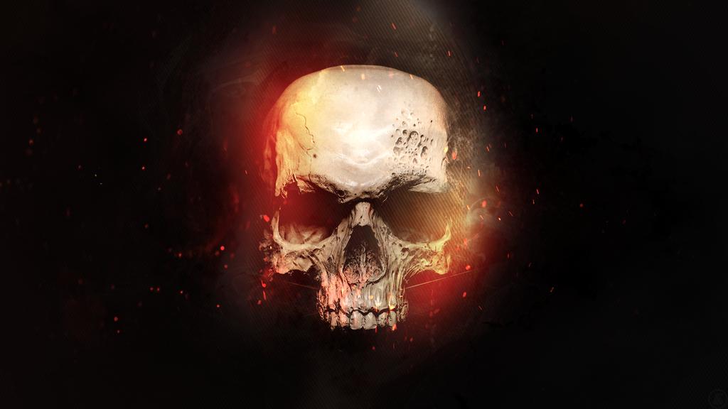 fire skull wallpaper dazzling   Quotekocom 1024x576
