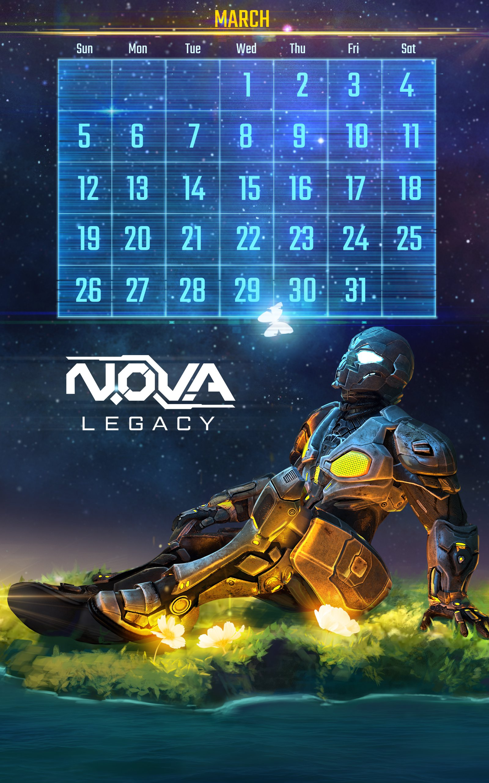 Download NOVA Legacy calendar and wallpaper March   Gameloft 1600x2560