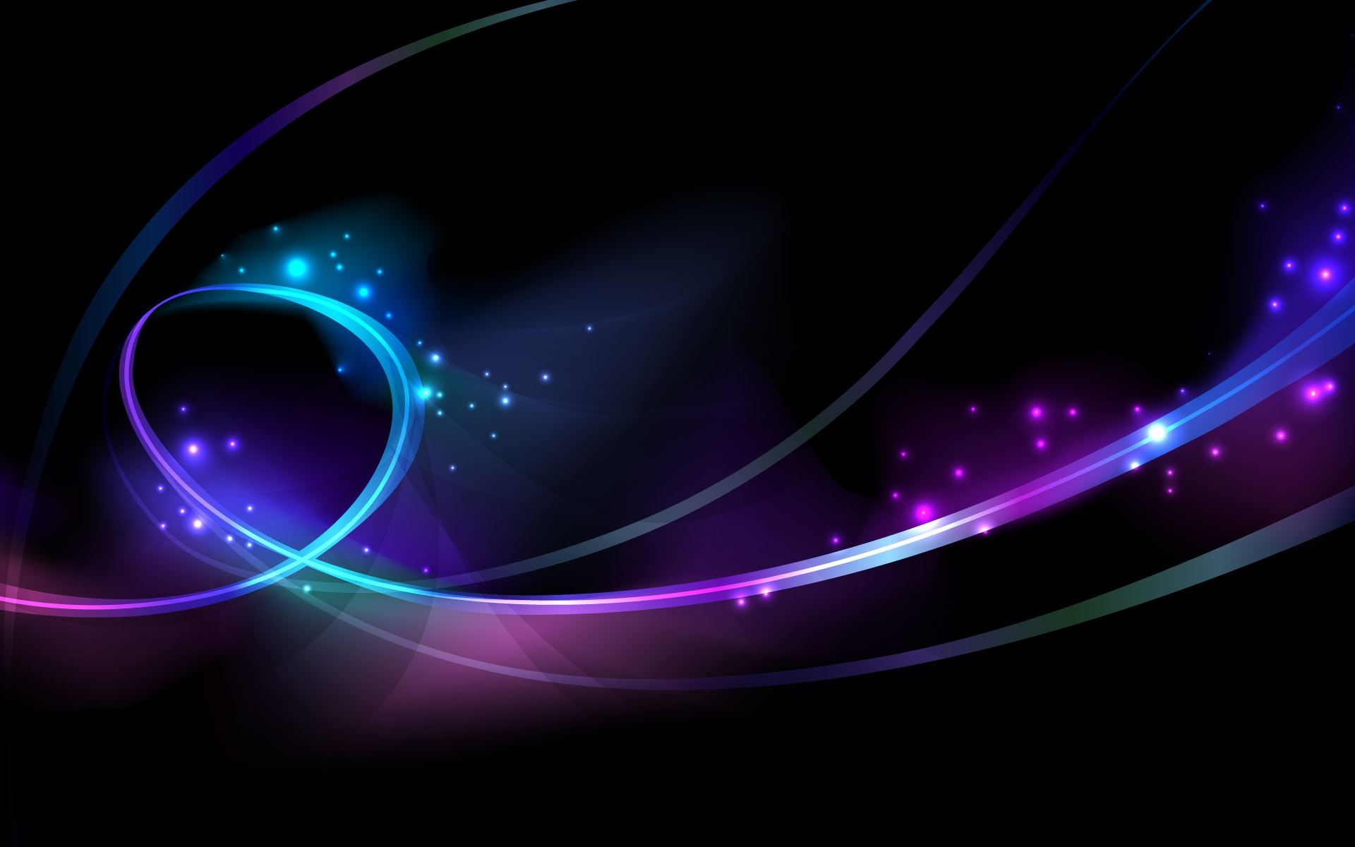 Purple and blue twirl desktop wallpaper Black Background and some 1920x1200