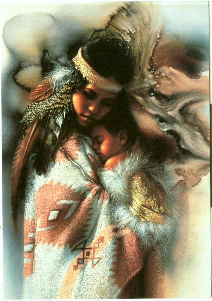 Native American Mother And Child Art Native Indian Wallpape...