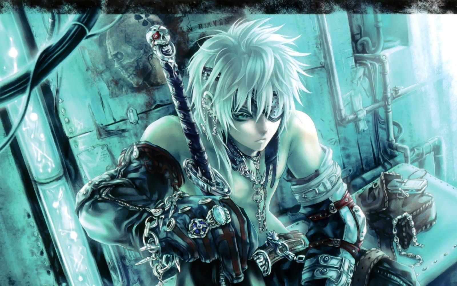Anime Guy Fighter Sword Eye Patch 1506 HD Wallpaper 1600x1000