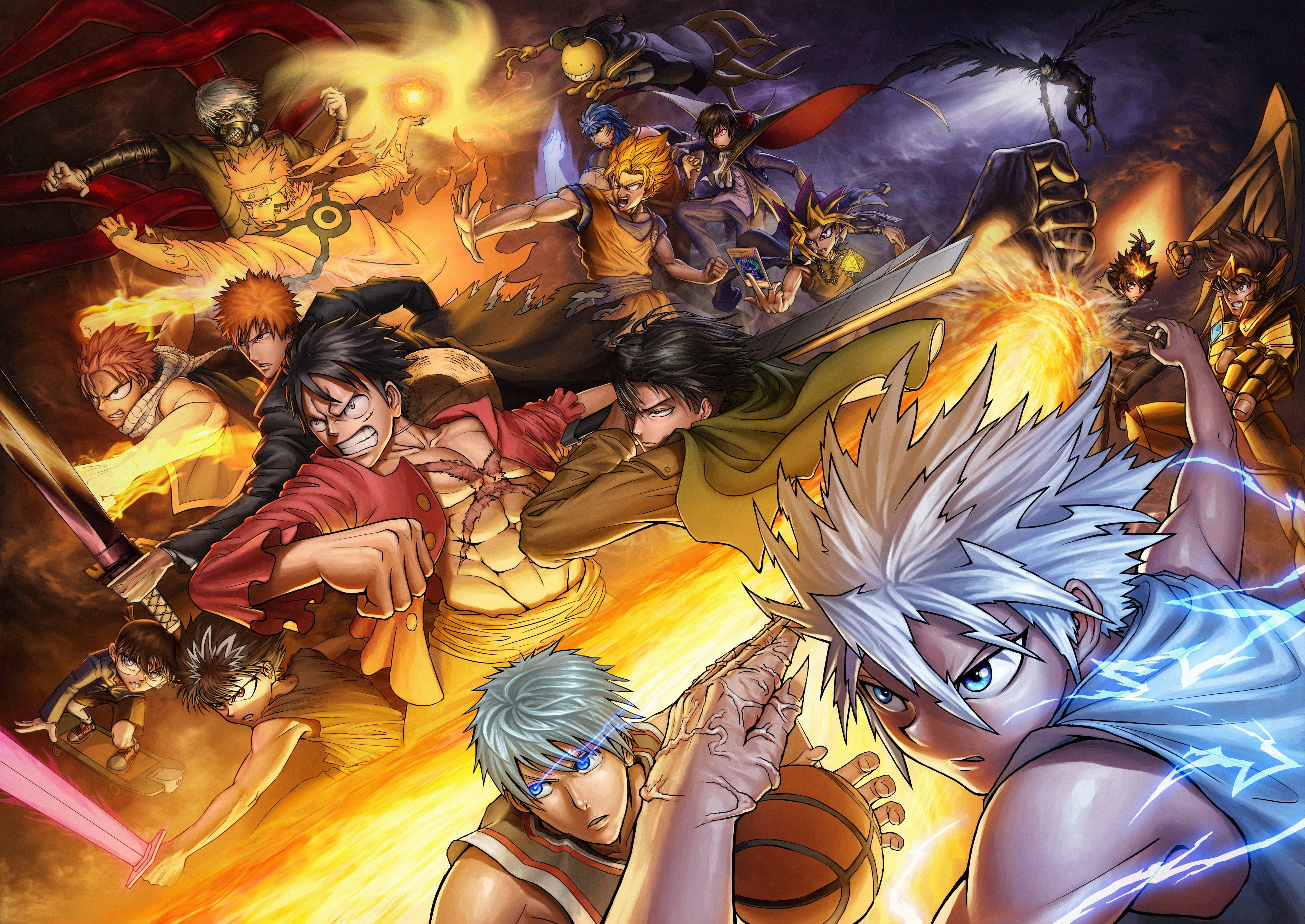 Anime compilation wallpaper HD wallpaper Wallpaper Flare 5000x3541