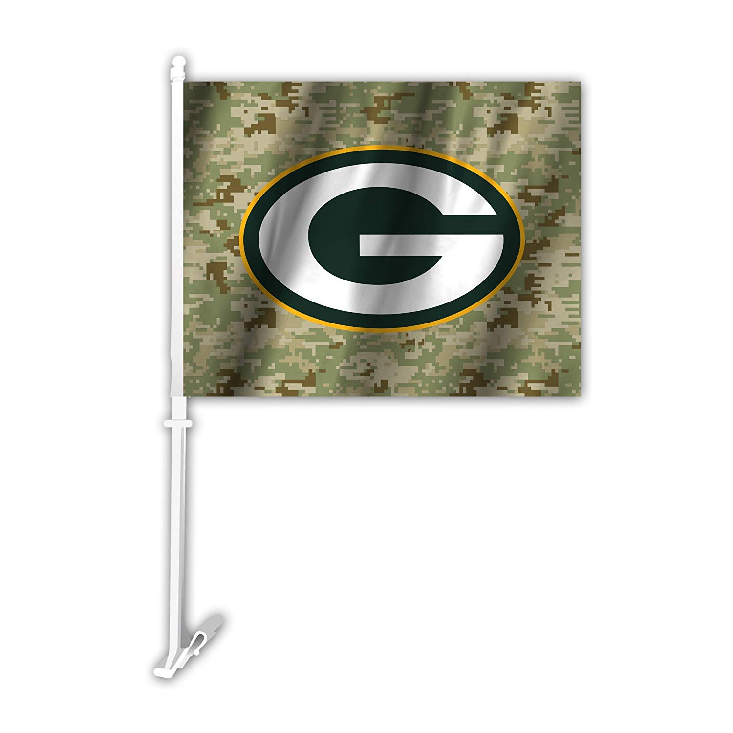 Amazoncom NFL Green Bay Packers Camo Car Flag Green One Size 1500x1500