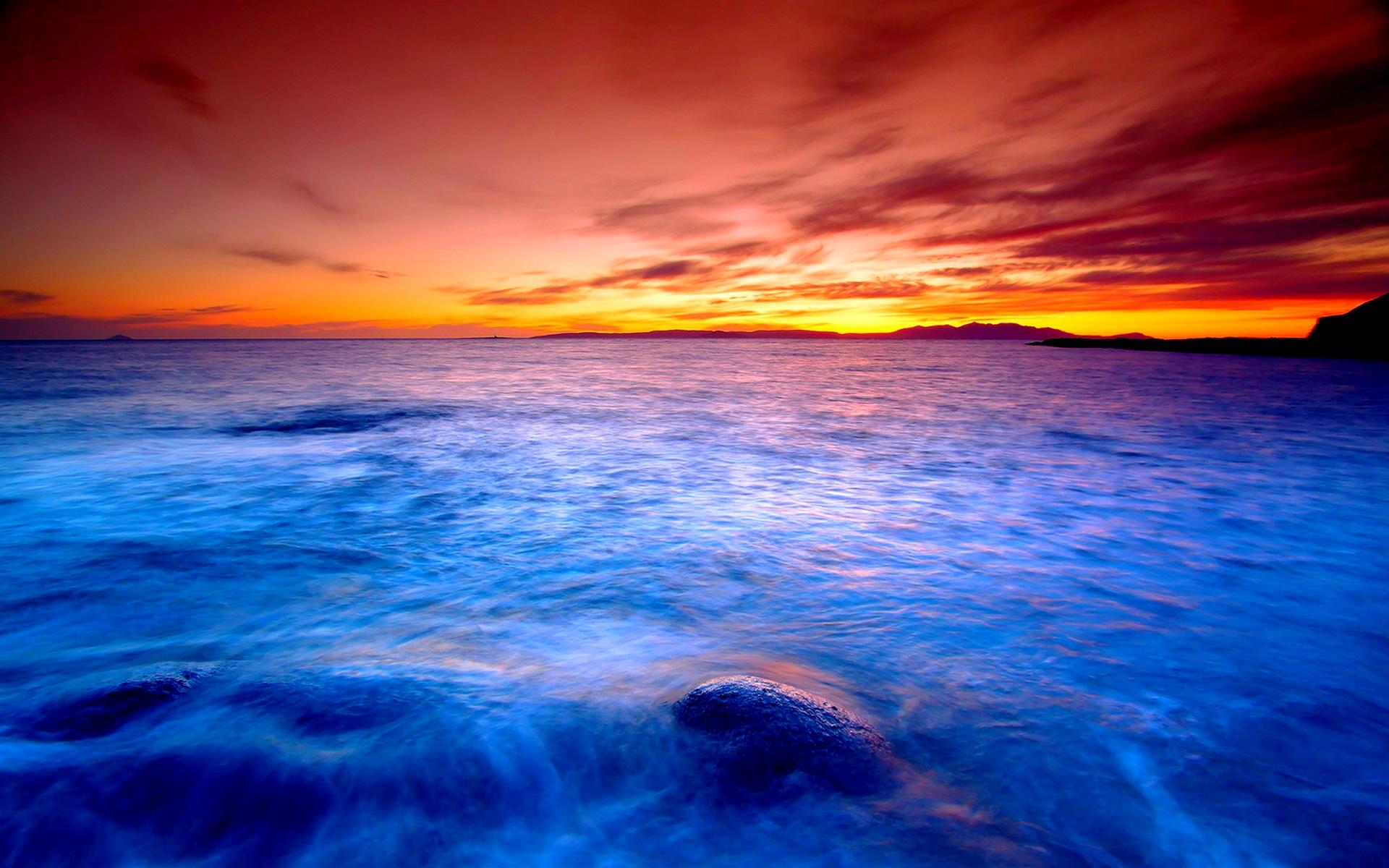 Gallery For > Hd Ocean Sunset Wallpaper