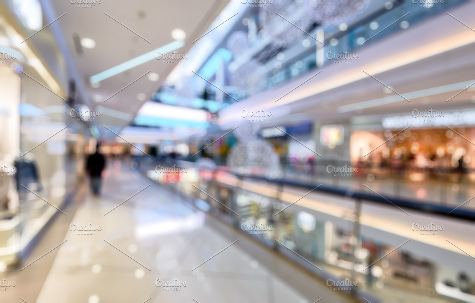 Mall interior as blur background Industrial Photos Creative Market 1820x1162