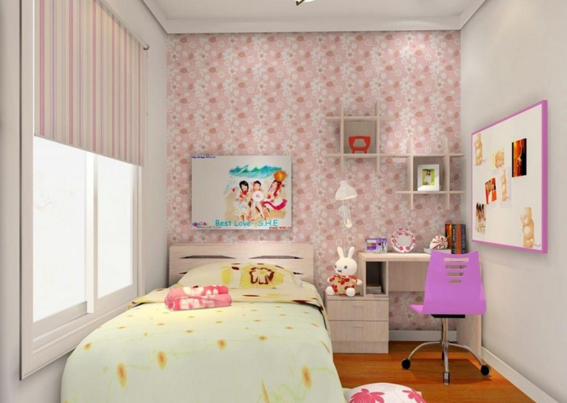 3d wallpaper girl room wallpaper 3d decoration of girl room 1106x786