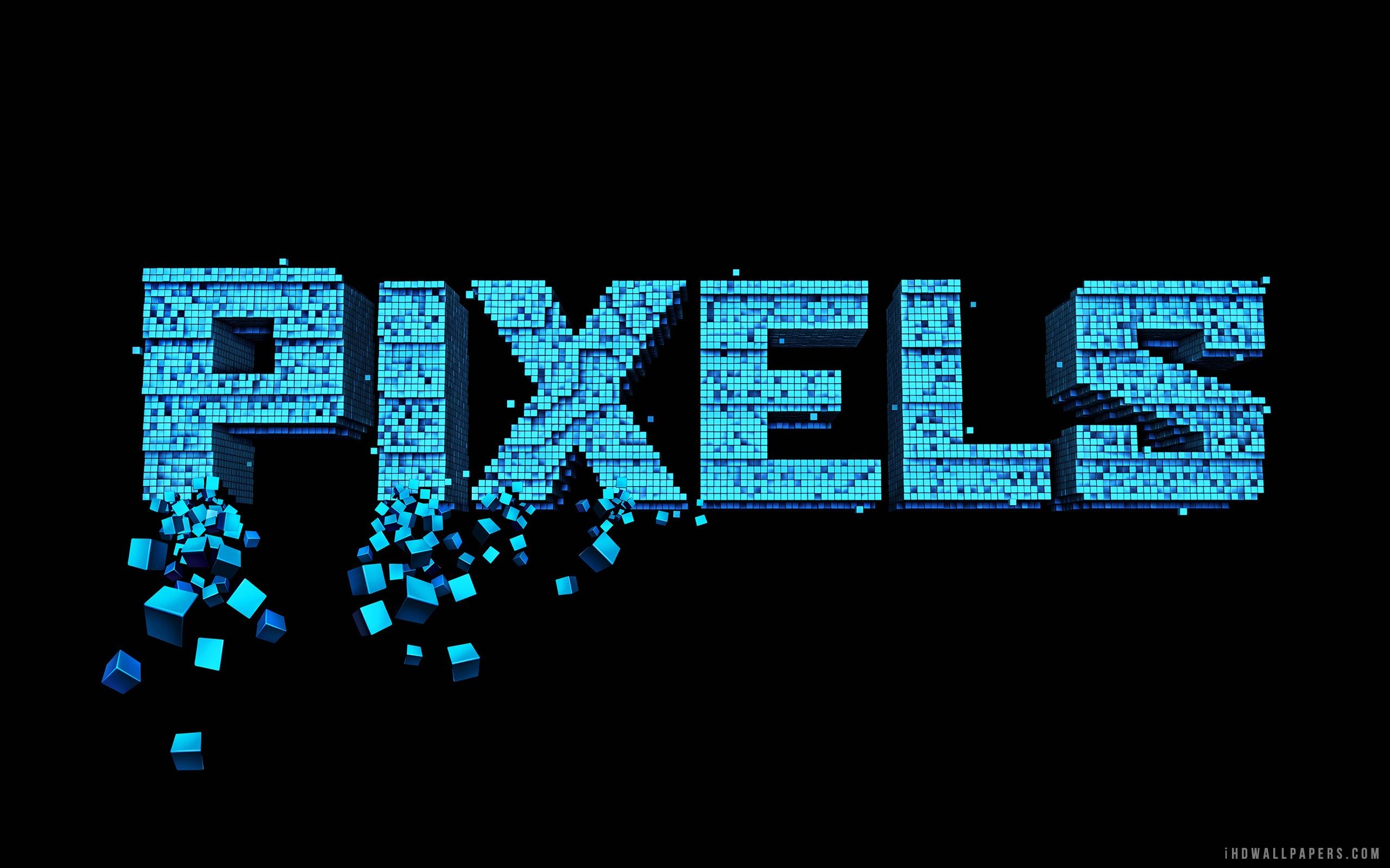 Pixels 2015 Movie Logo HD Wallpaper   iHD Wallpapers 2560x1600