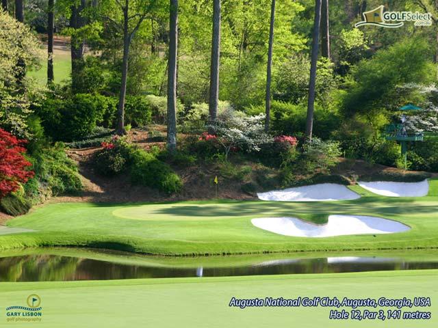 Golf Wallpaper Augusta National Hole 12 Par 3 141 metres 640x480