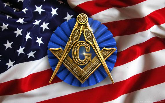USA Masonic Freemason Flag Wallpaper 570x356