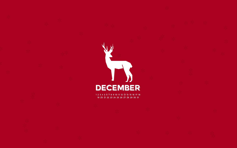 December 2014 Desktop Calendar Wallpaper 2880x1800