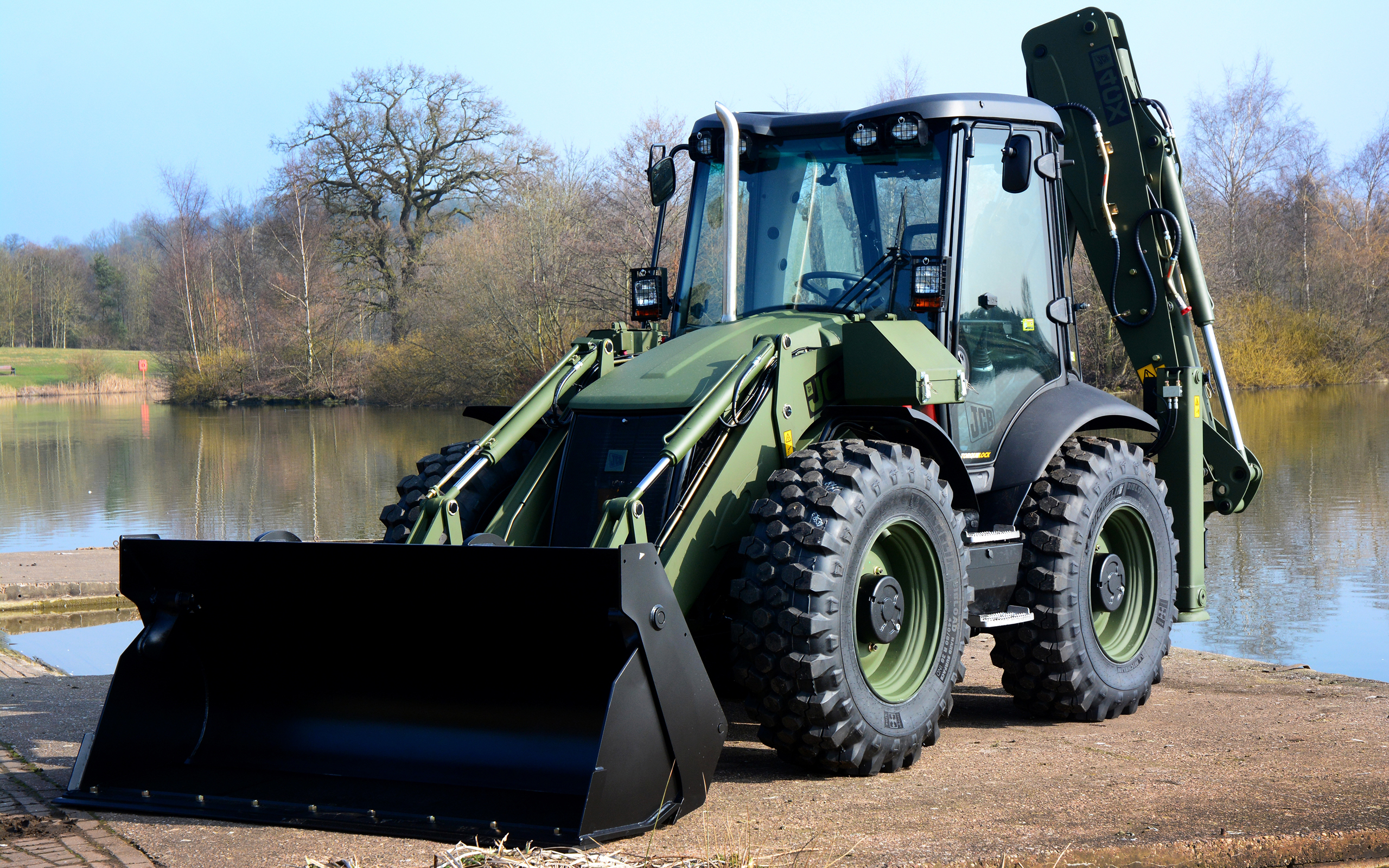 Jcb 4 Military New Tractors Loader Special Machinery   New 2560x1600