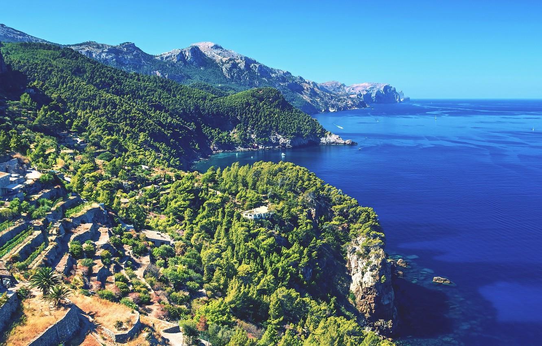 Wallpaper sea coast Spain Mallorca images for desktop section 1332x850