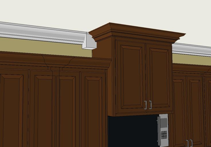 use crown molding to cover the old wallpaper border instead of 736x514