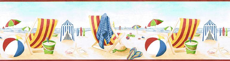 about Fun in Sun SeashoreSeash ell Beach Wallpaper Border BH7949B 770x206