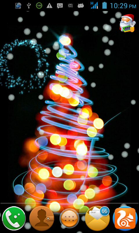 Sound Live Wallpaper for android Christmas Sound Live Wallpaper 10 480x800