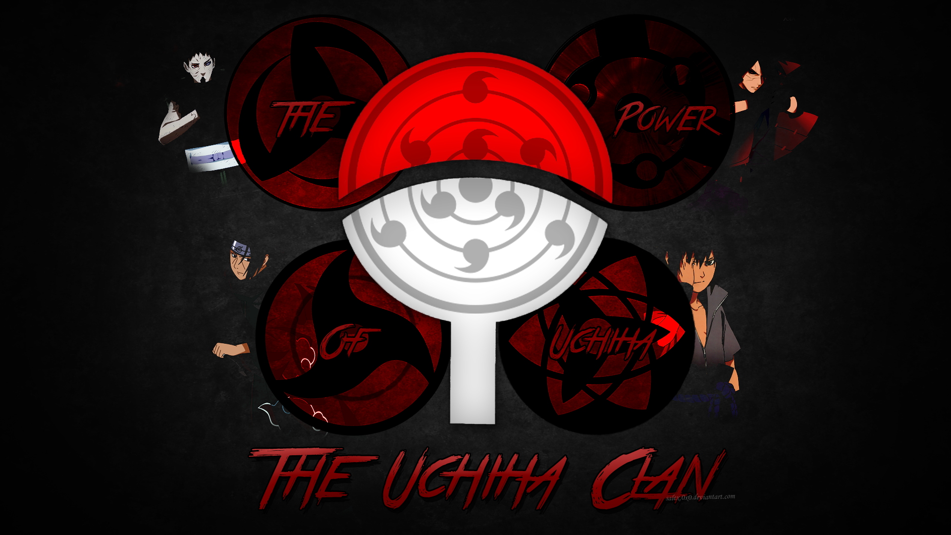 uchiha symbol wallpaper - wallpapersafari
