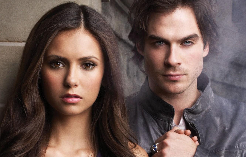 Photo Wallpaper Girl Nina Dobrev The Vampire Diaries   Vampire 1332x850