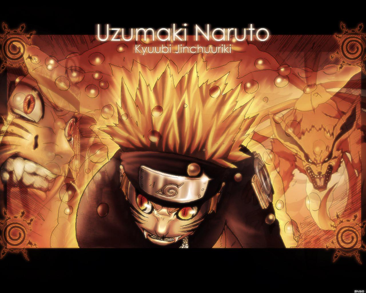 Naruto Uzumaki Shippuden Kyuubi Wallpapers Hd Background Wallpaper 1280x1024