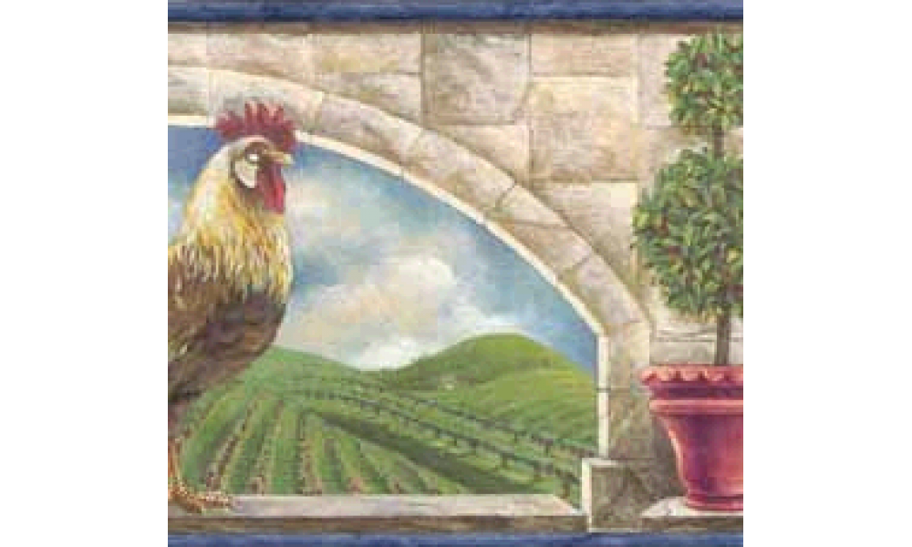 Home Blue Rooster 5812175B Wallpaper Border 1000x600