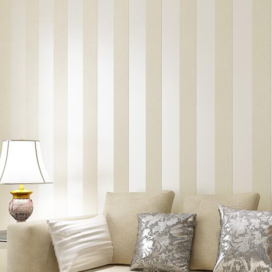 Stripe Circles Wallpaper Cream Beige brown Wide Band Stripe 555x555