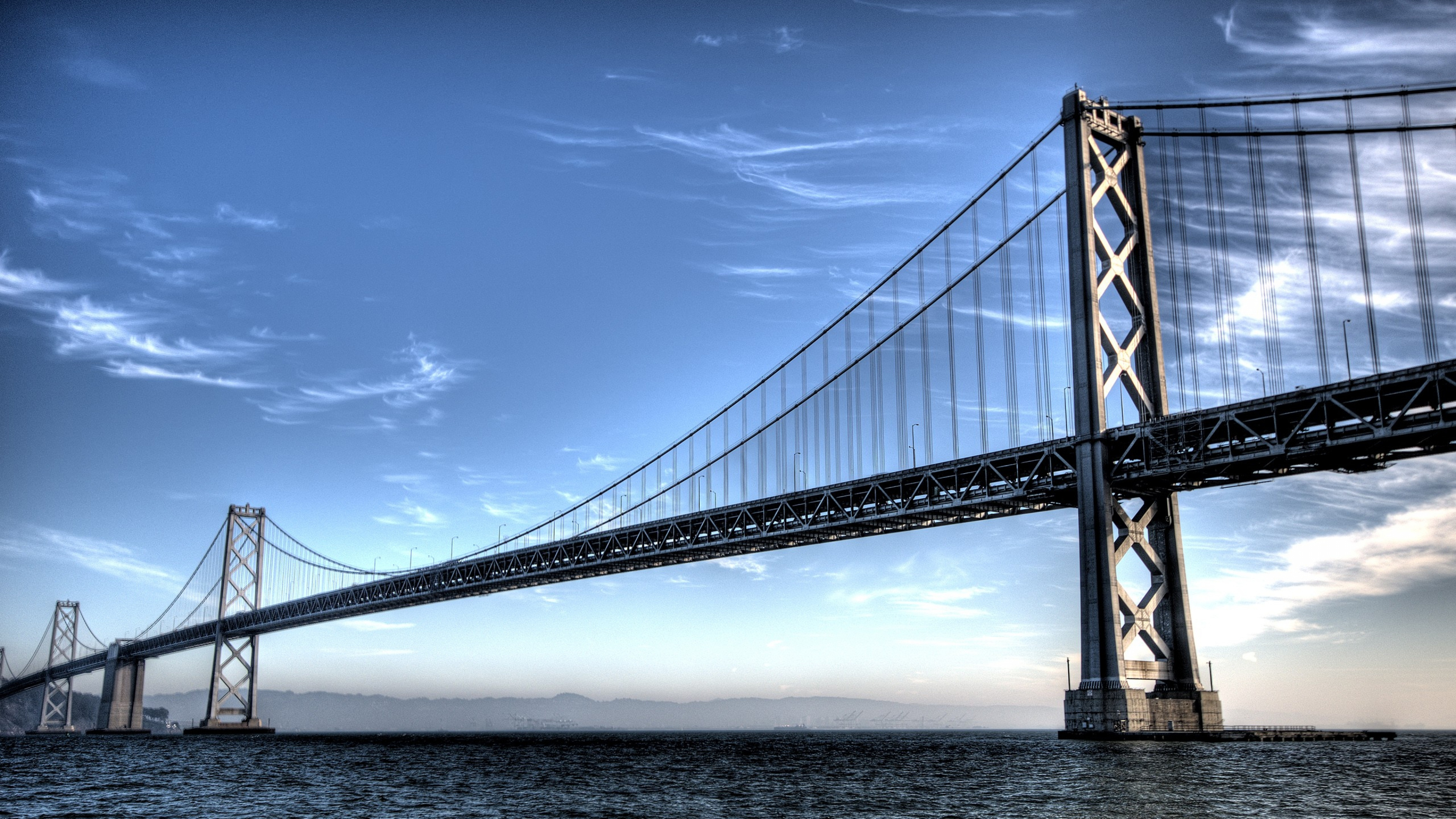 Wallpaper 3840x2160 san francisco sky nature wave bridge 4K 3840x2160