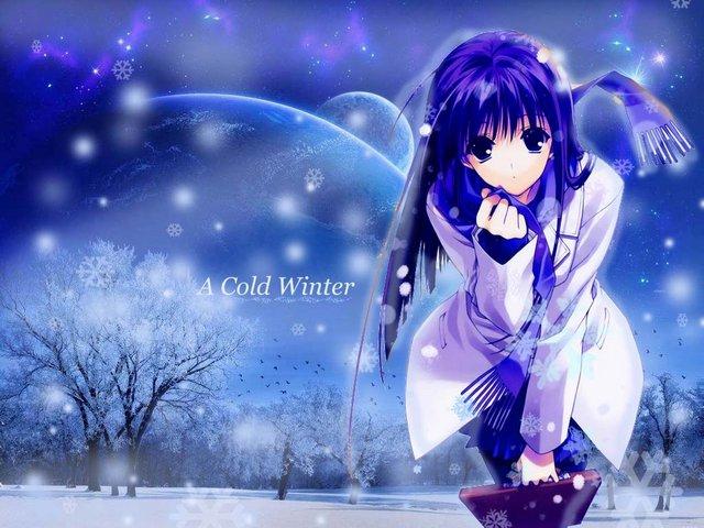 Winter Anime Girl Wallpaper: Winter Anime Wallpaper