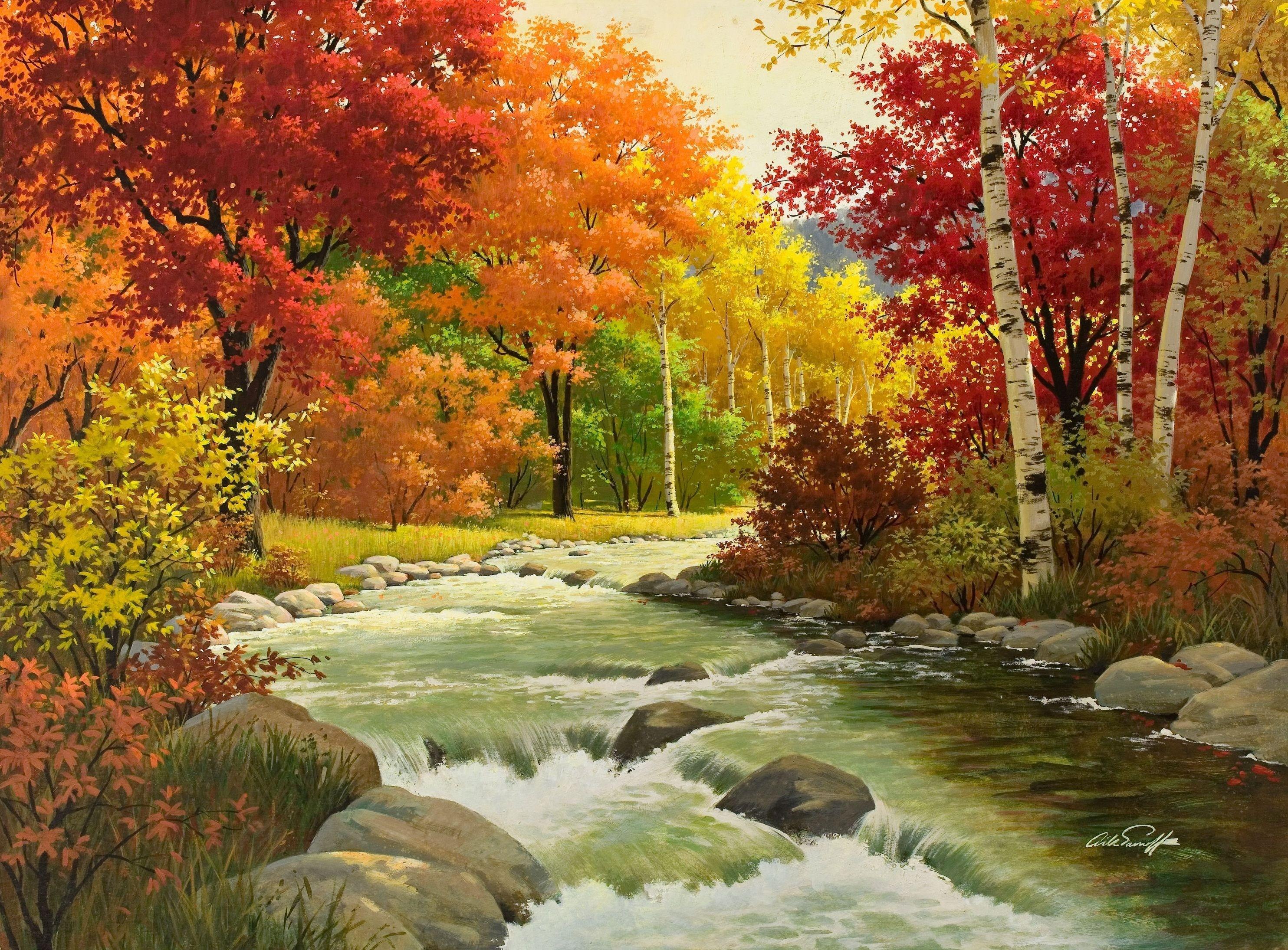 Vallen schilderij wallpaper   ForWallpapercom 2968x2190
