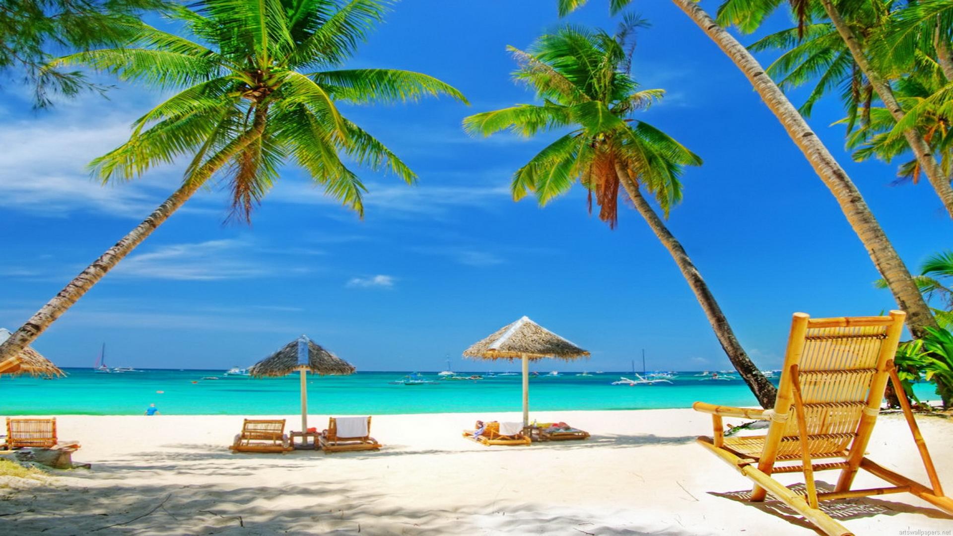 Free Download Beach Scene Wallpaper Full Desktop Backgrounds