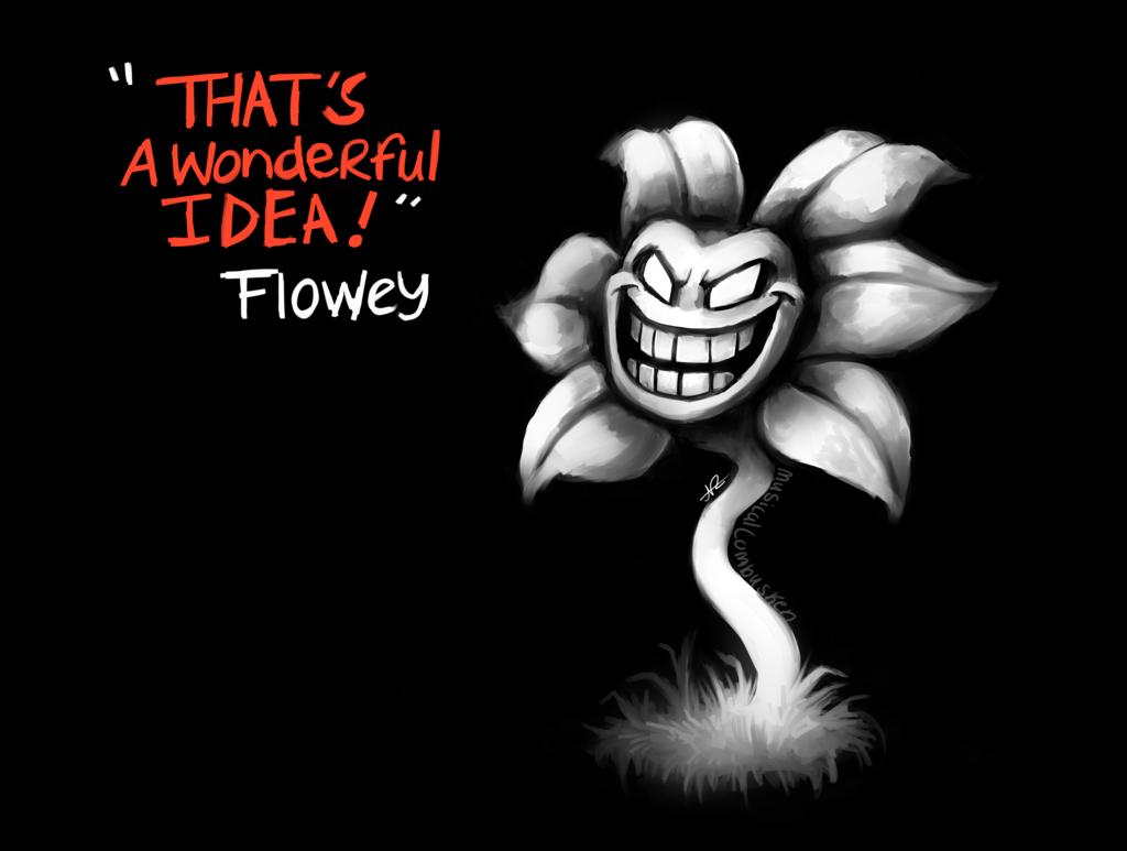 Flowey   Undertale by MusicalCombusken 1024x773