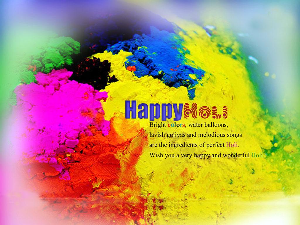 Holi Festival Wallpaper for Desktop 1024x768