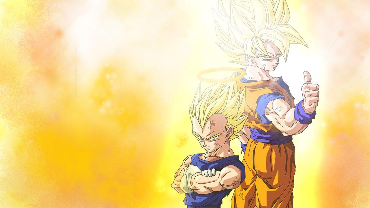 Goku and Vegeta Wallpaper by Kesia chan on deviantART 1192x670