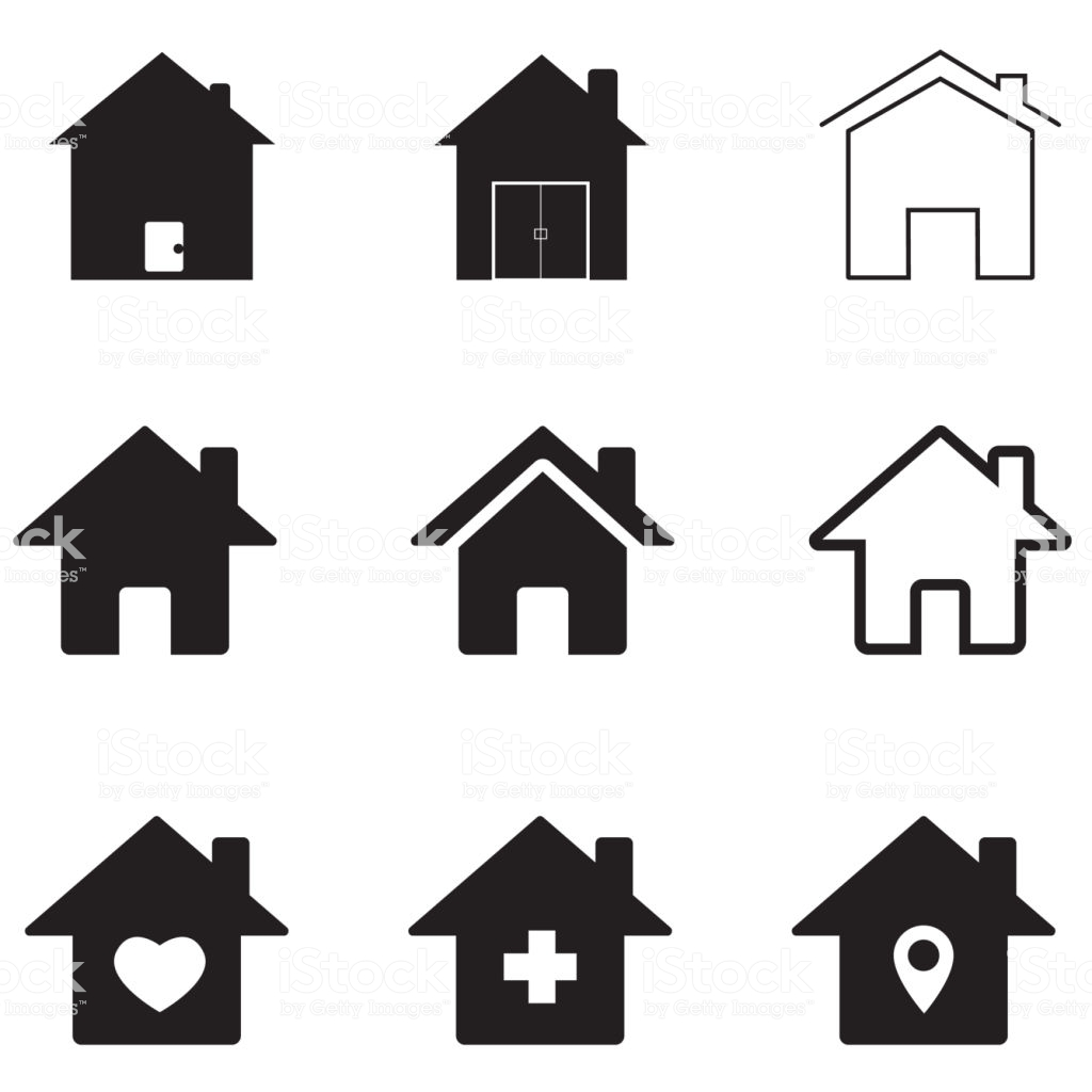 Houses Icon On White Background Flat Style Homes Icon For Your Web 1024x1024