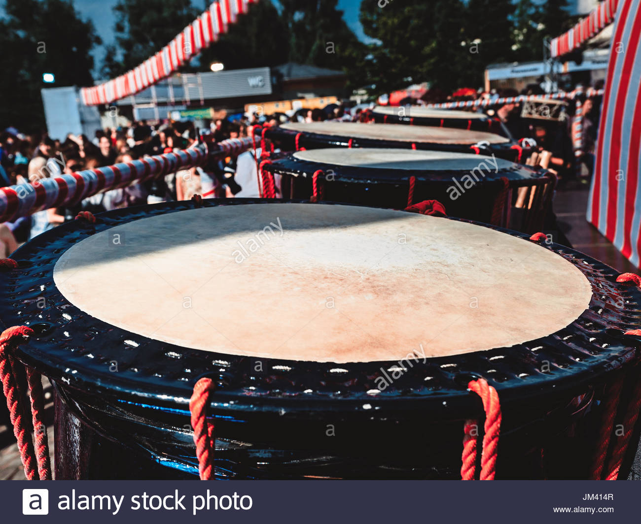 Taiko drums o kedo on scene background Musical instrument of Asia 1300x1064