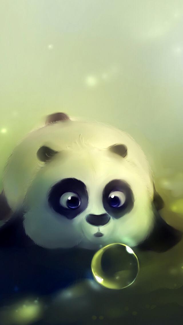 Cute Cartoon Panda iPhone 6 6 Plus and iPhone 54 Wallpapers 640x1136