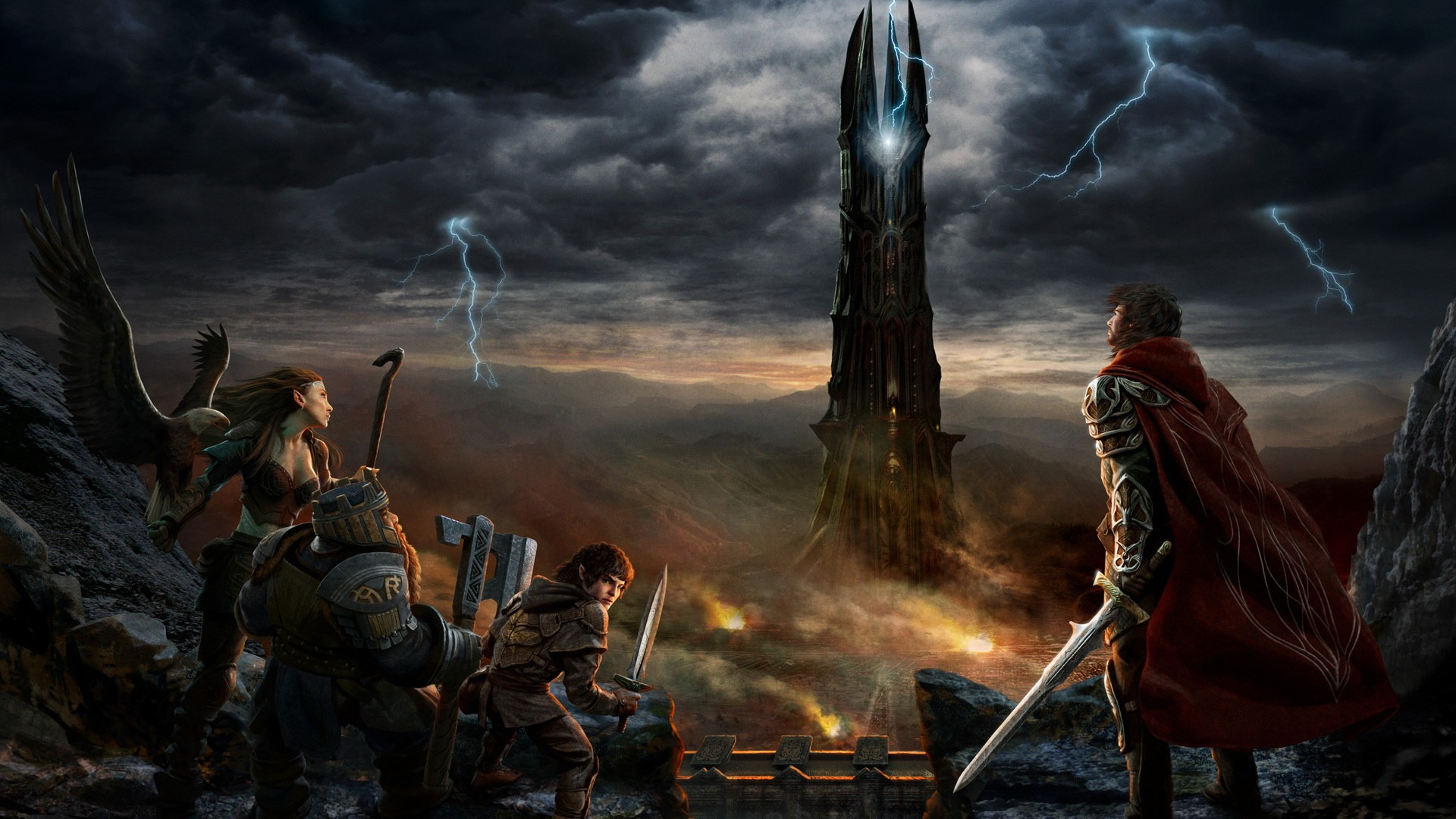 Tower Sauron Wallpaper 1920x1080 Tower Sauron Human The Lord Of 1920x1080