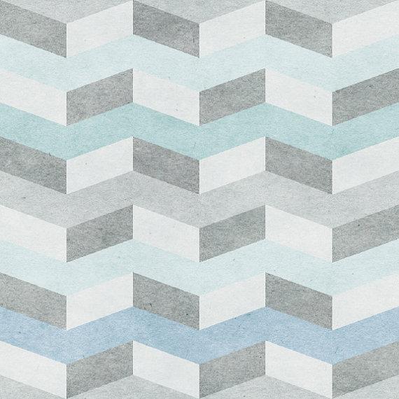 Blue Chevron Removable Wallpaper 8 Feet by WallsNeedLove on Etsy 570x570