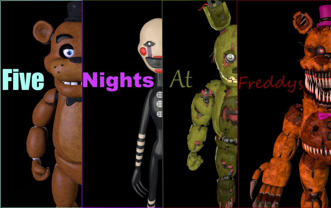 FNAF Wallpaper 1920x1080 one in the description by boatfullogoats on 1128x708