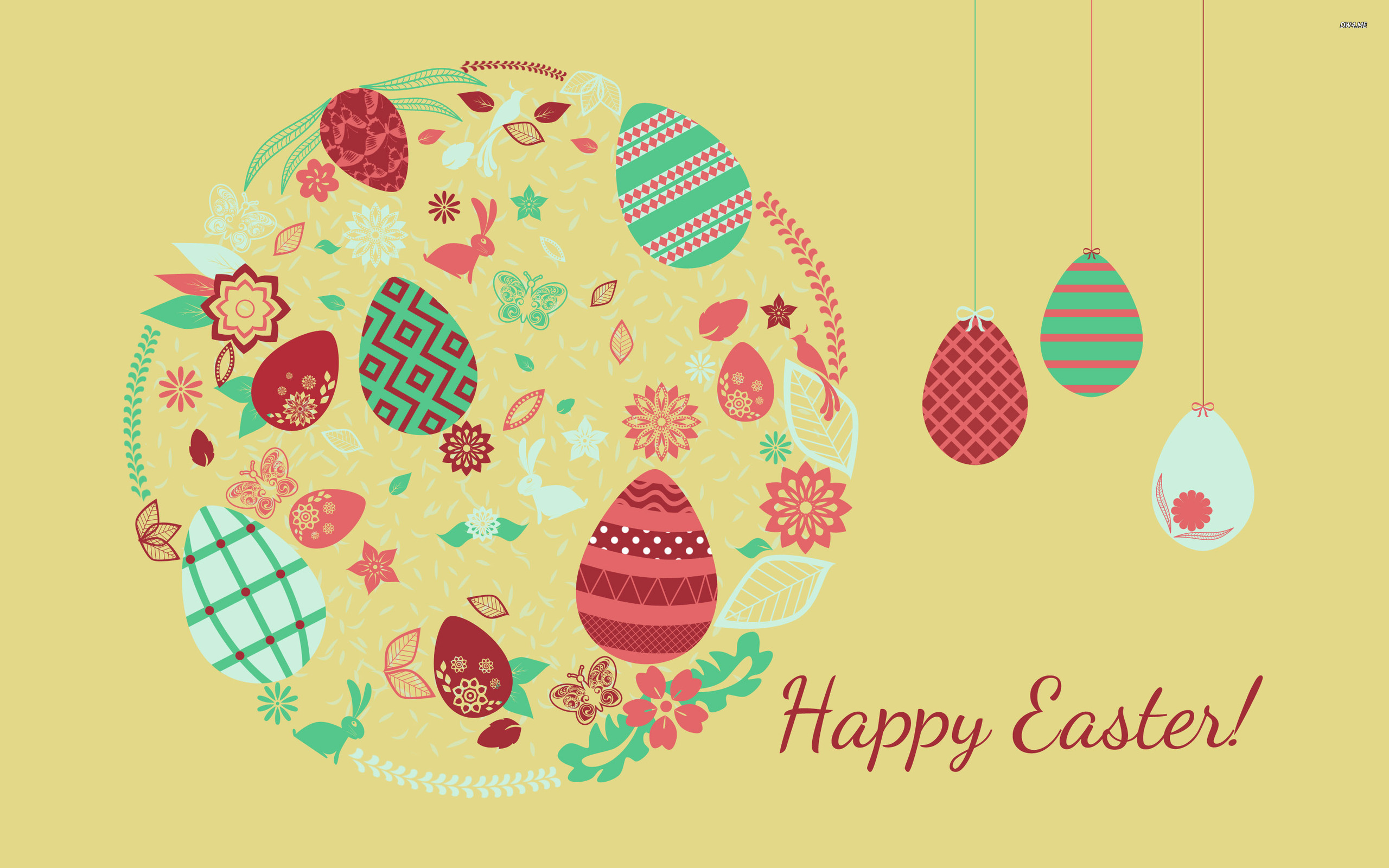 Happy Easter wallpaper   Holiday wallpapers   1273 2560x1600